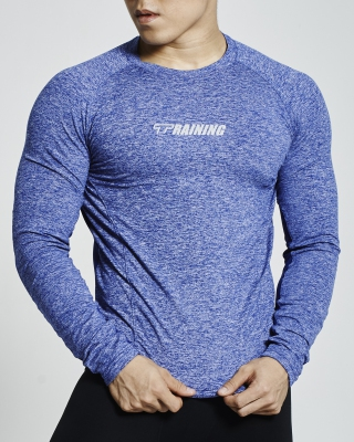 Ventilated Compression Long Sleeve Shirt (Blue)