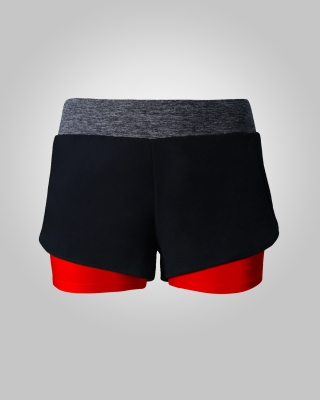 Two-in-One Sweat Free Training Shorts (Red)