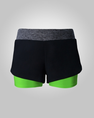 Two-in-One Sweat Free Training Shorts (Green)