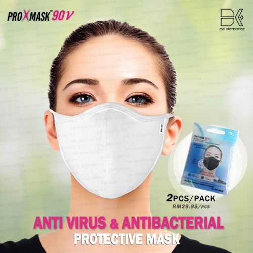 (RM29.95/pc) ProXmask™90V - 5 Layer Anti Virus Protective Mask with Microfiltration (BFE), Anti-Microbial and Water Repellent. Reusable up to 60 Hand Washes.