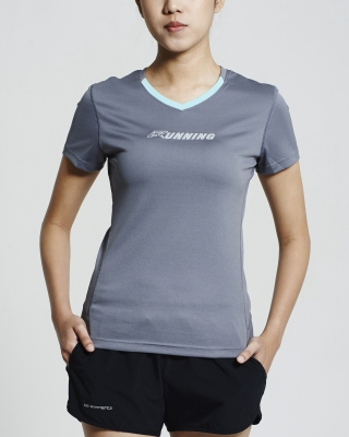 Ultra-Light V-Neck Running Shirt (Aqua Green)