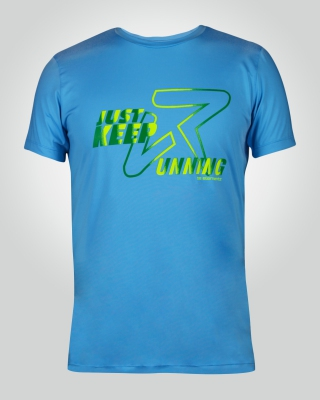 Men's Just-Keep-Running Shirt (Light Blue))