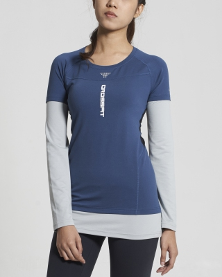 Crossfit Long Sleeve Tops (Navy)