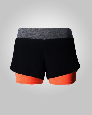 Two-in-One Sweat Free Training Shorts (Light Orange)