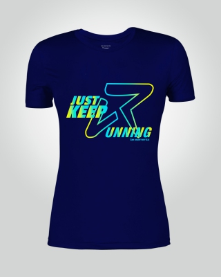Women's Just-Keep-Running Shirt (Navy)