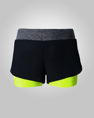 Two-in-One Sweat Free Training Shorts (Volt)