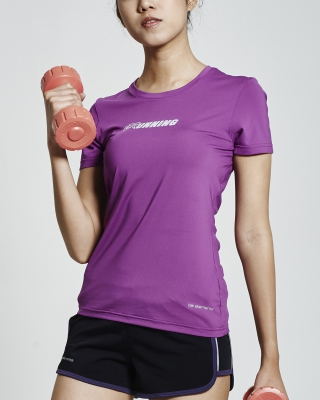 SuperDry-Fit Round Neck Running Shirt (Purple)