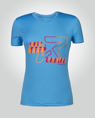 Women's Just-Keep-Running Shirt (Light Blue)