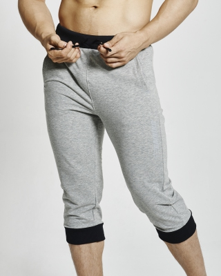 Three Quarter Training Cuffed Pants (Grey)
