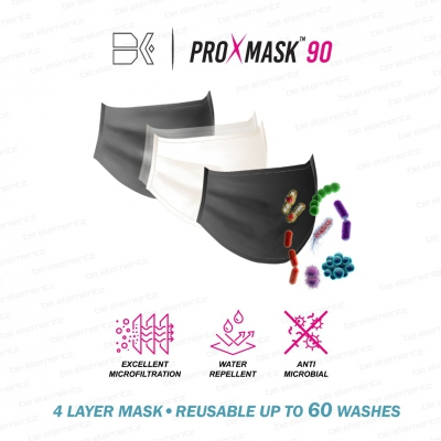 (RM19.80/pc) ProXmask™ - 4 Layer Mask with Excellent Bacterial Filtration Efficiency (BFE), Anti-Microbial & Water Repellent. Reusable up to 60 Hand Washes. Selling Unit: 5 pcs / pack