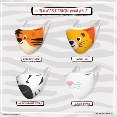 (RM29.95/pc) Cutie Animals Alliance KIDS PROXMASK90V - 5 Layer Anti Virus Protective Mask with Microfiltration (BFE), Anti-Microbial and Water Repellent. Reusable up to 60 Hand Washes.